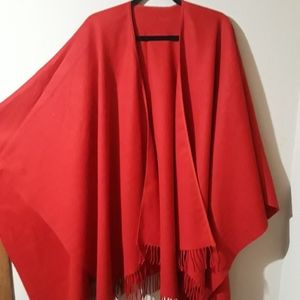 Shawl Red OSFA 100% Acrylic